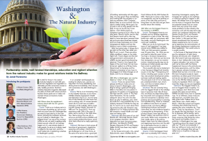 Washington and the Natural Industry