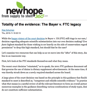 Totality of the evidence: The Bayer v. FTC legacy