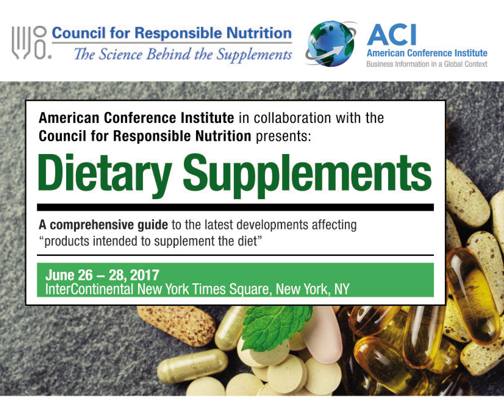 Dietary Supplements Event