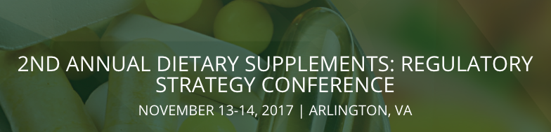Dietary Supplements: Regulatory Strategy Conference