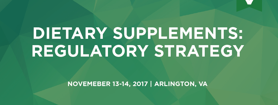 Dietary Supplements Regulatory Strategy Nov 2017